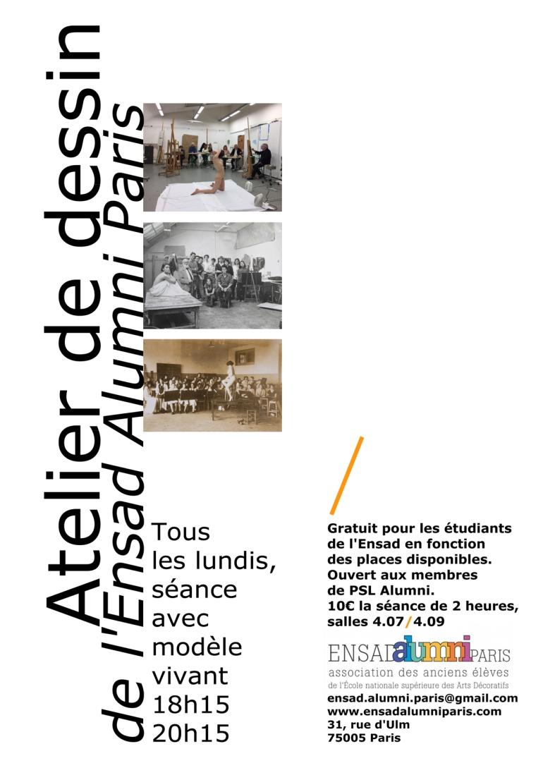 A5 atelier de dessin ensad alumni paris 2018